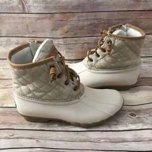 d2d2d5b81 Sperry Shoes | Womens Saltwater Wool Embossed Duck Boot | Poshmark